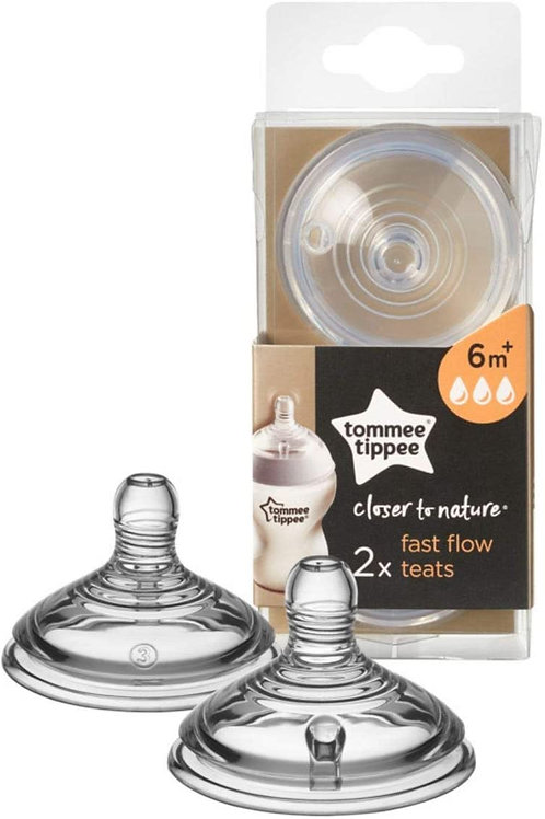 Tommee Tippee Tétines à Débit rapide Closer to Nature Lot de 2