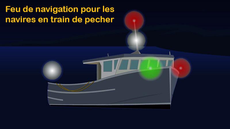 Feu de navigation pour navire en train de pecher