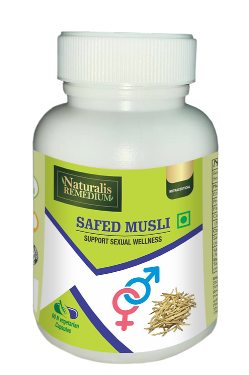 Naturalis Remedium Safed Musli 500 mg 60 Capsules