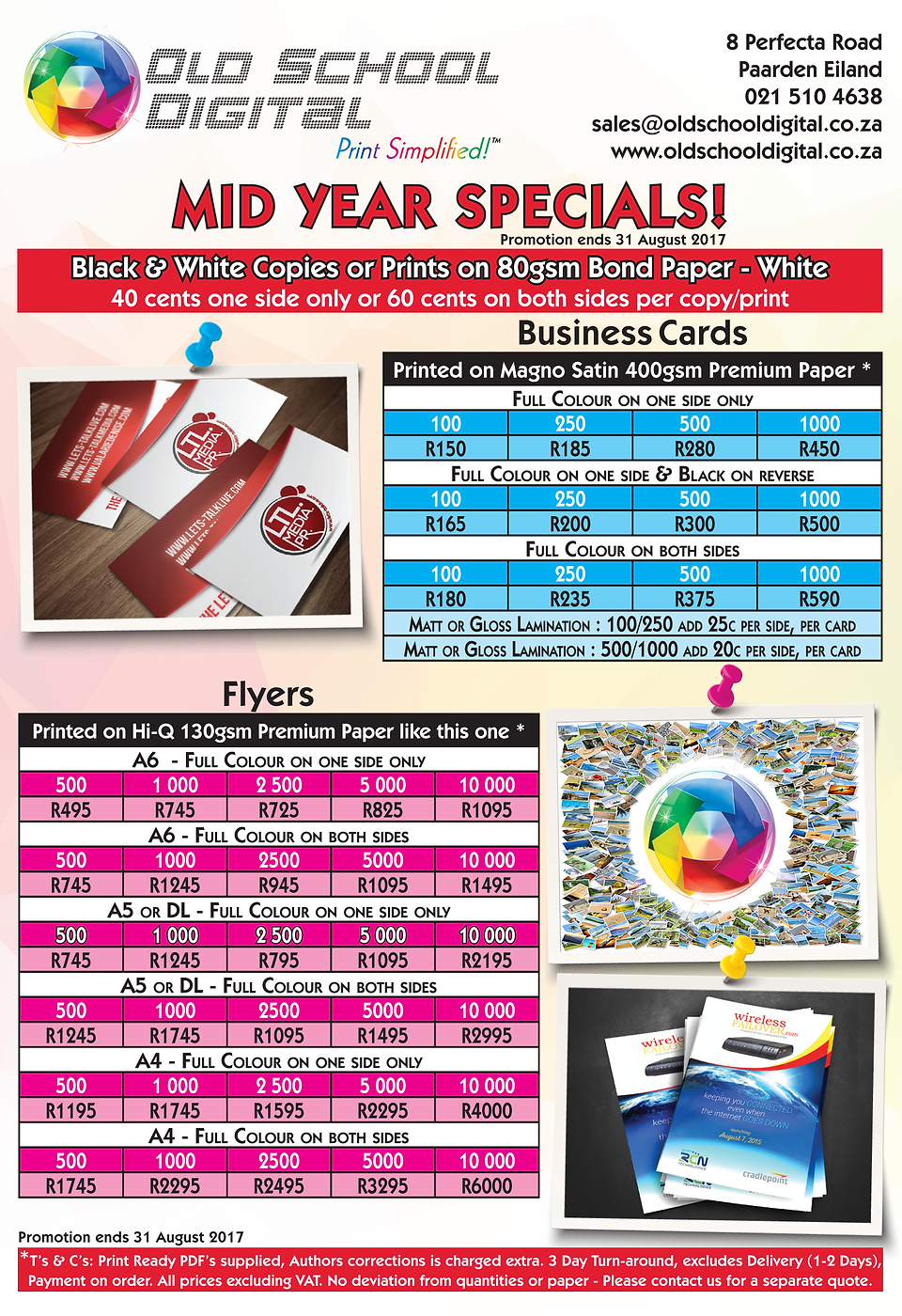 Old School Digital Large Format Printing Litho Cape Town Specials