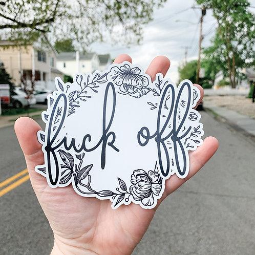 Fuck Off | LARGE Die Cut Magnet