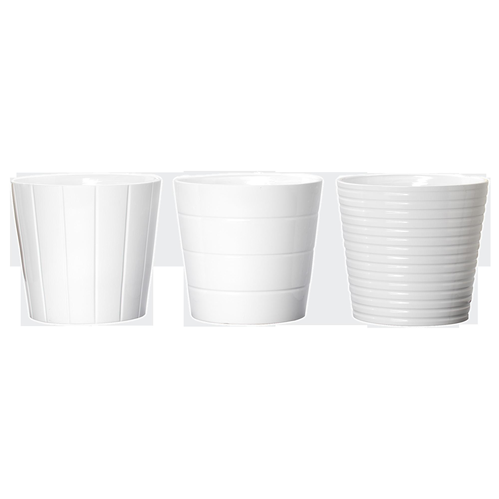 Round White Pots