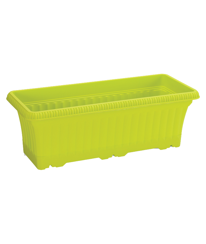 Rectangular Lime Plastic Pot
