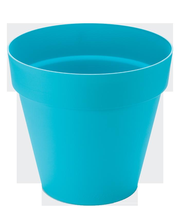 Classic Round Blue Pot