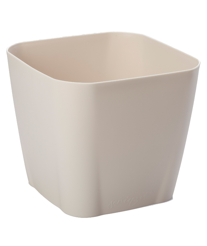 Square White Plastic Pot