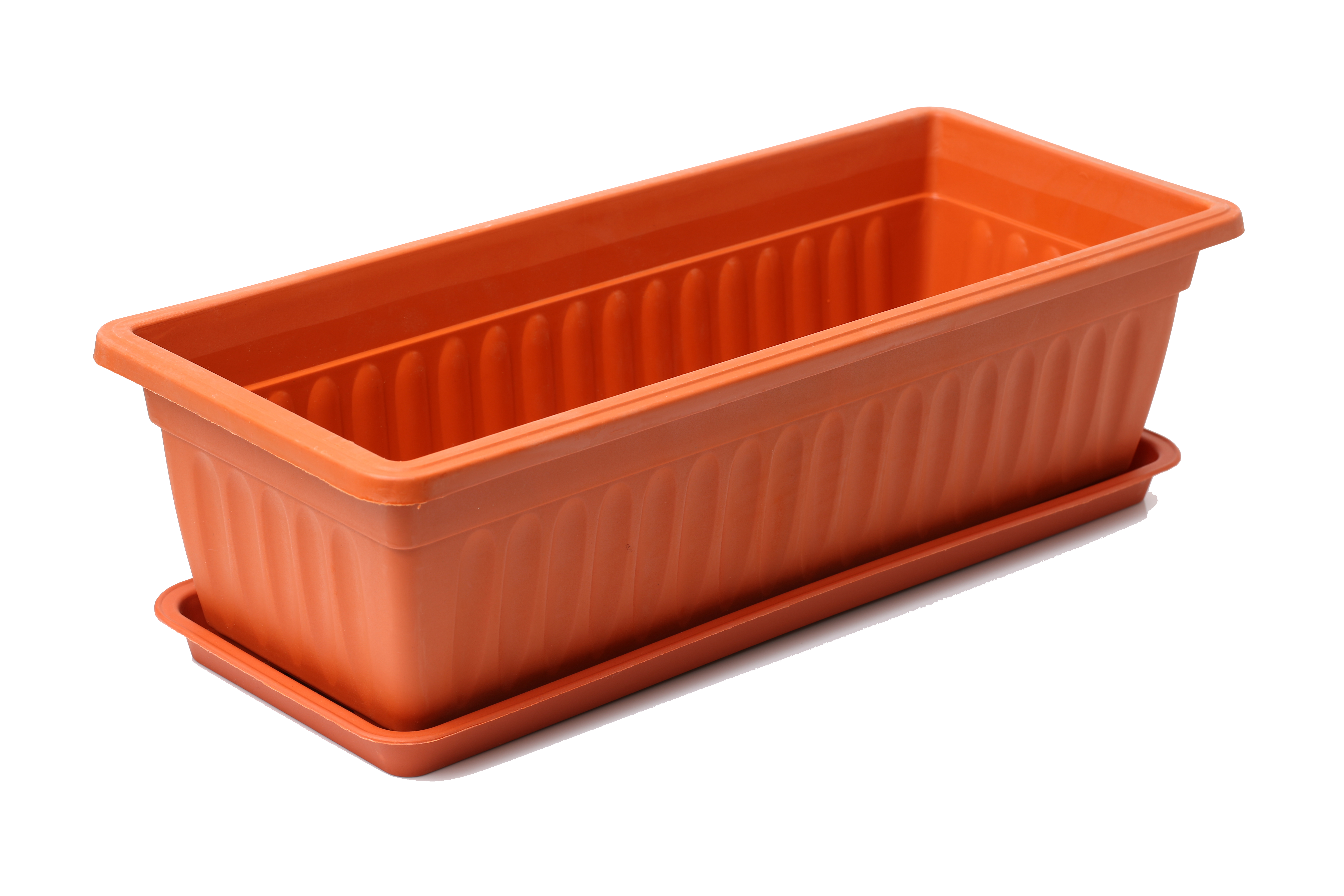Rectangular Brown Plastic Pot