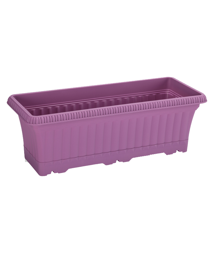 Rectangular Purple Plastic Pot