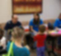 Psychologist with children