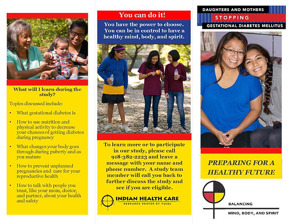 First page of Gestational Diabetes brochure