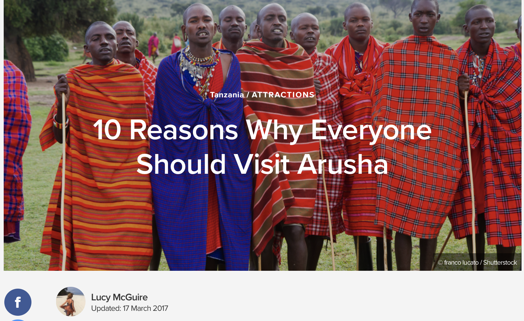 Reasons to visit Arusha
