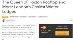 London's cosiest winter lodges
