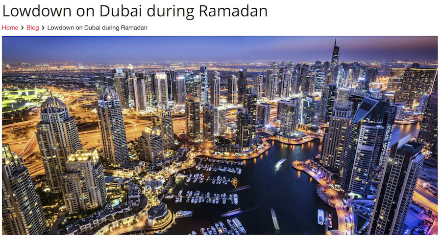 Lowdown on Dubai during Ramadan