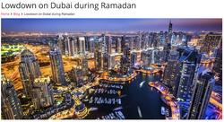 Lowdown on Dubai during Ramadan