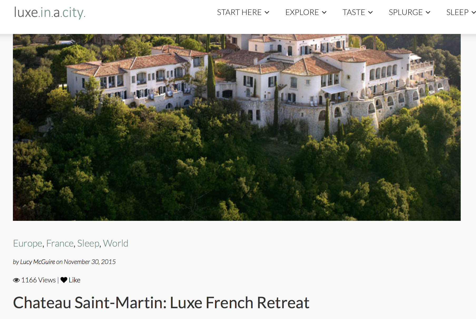 Chateau St Martin - French Retreat