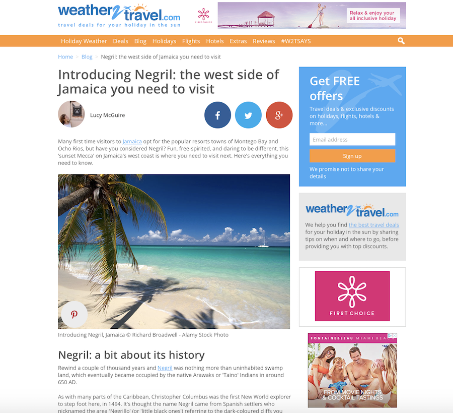 Introducing Negril, Jamaica