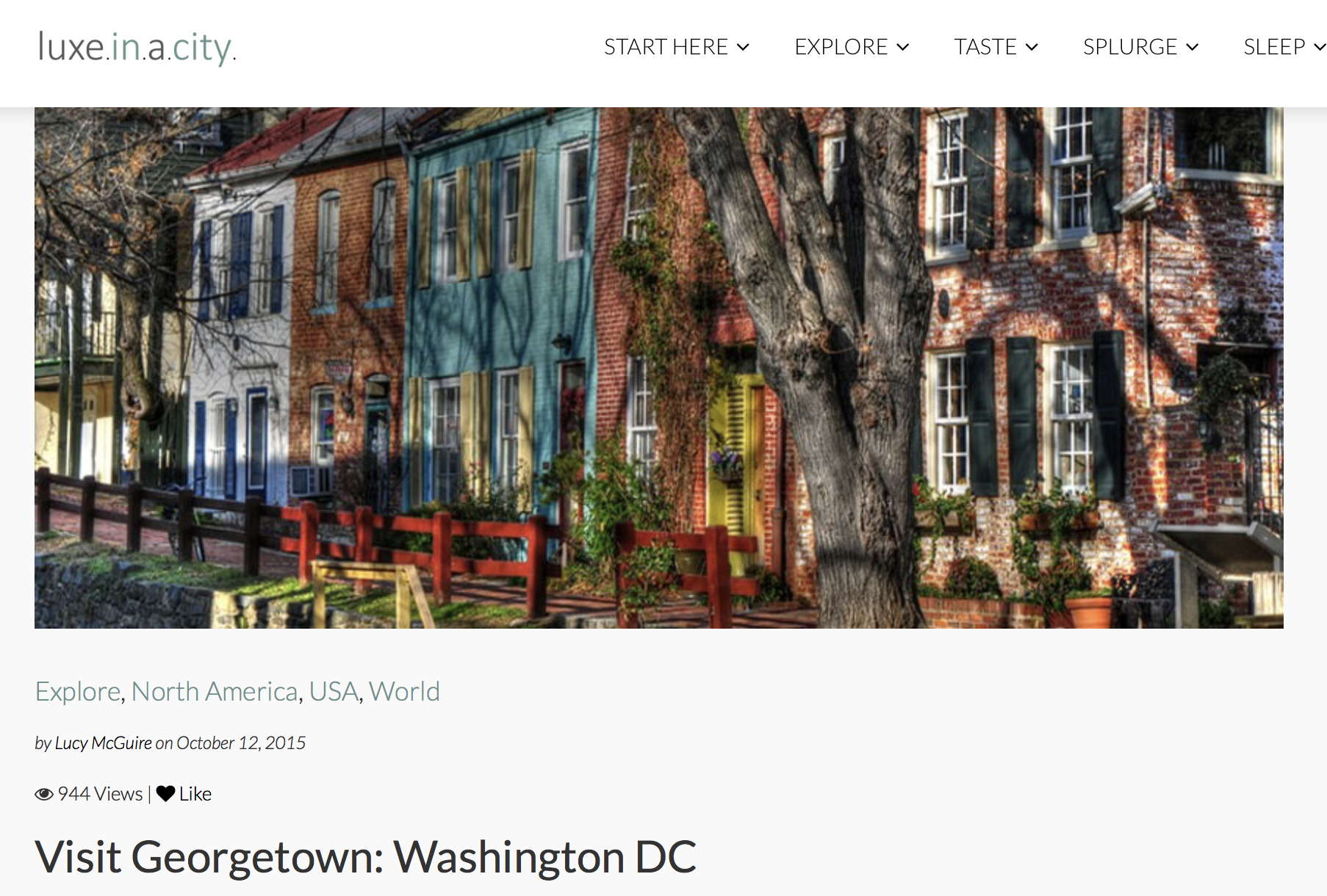 Visit Georgetown Washington DC