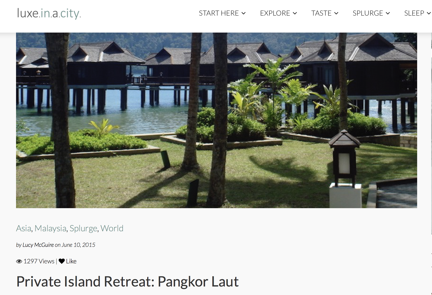 Private Island Retreat Pangkor Laut