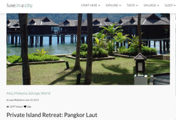 Private Island Retreat Pangkor Laut