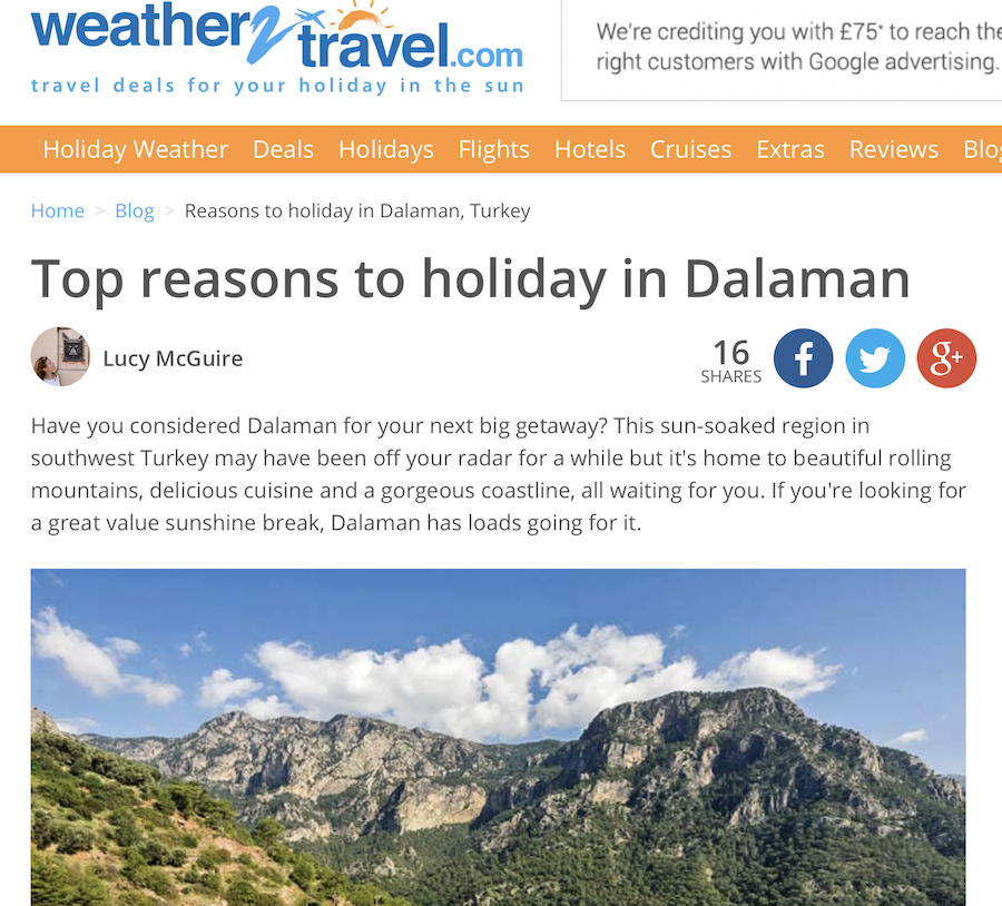 Reasons to holiday in Dalaman