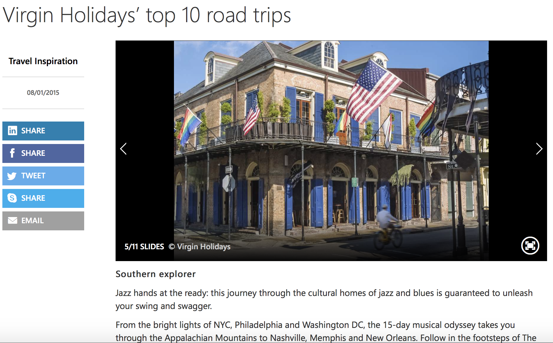 MSN Top 10 Road Trips