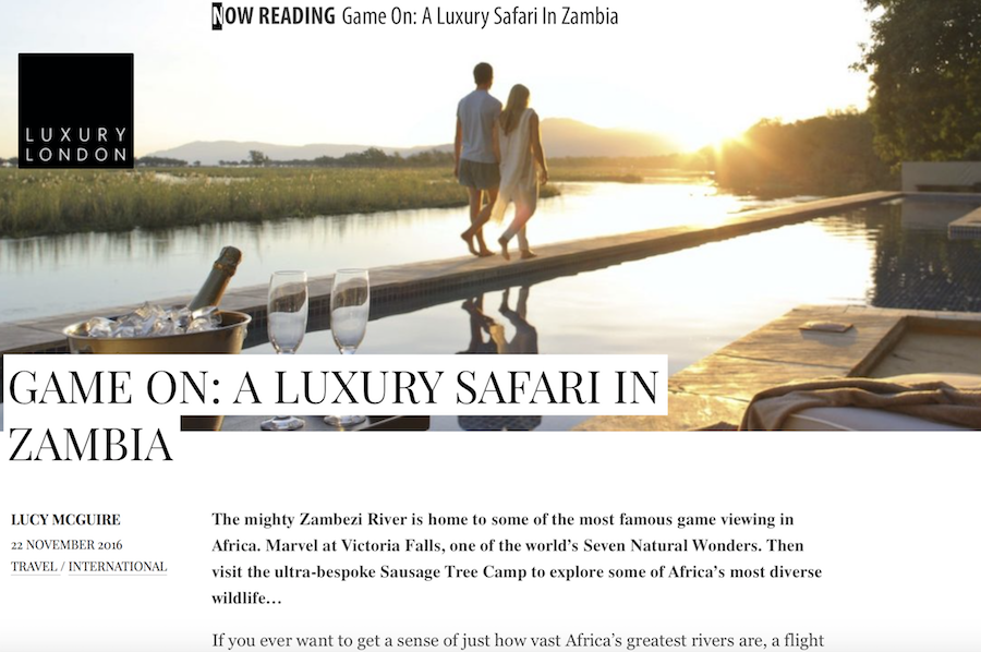 Game on: A Luxury Safari in Zambia