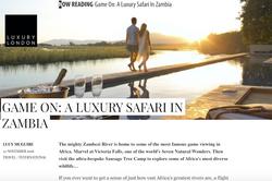 Game on: A Luxury Safari in Zambia