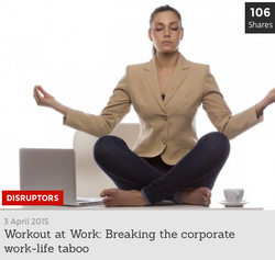 Workout at Work: Breaking the Taboo