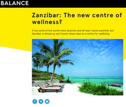 Zanzibar: The new centre of wellness