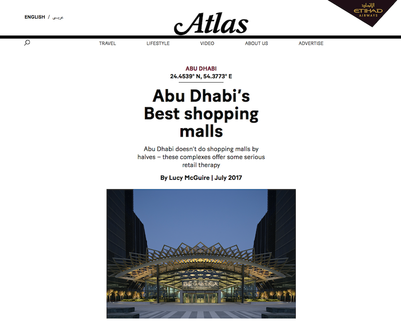 Abu Dhabi's Best shopping malls