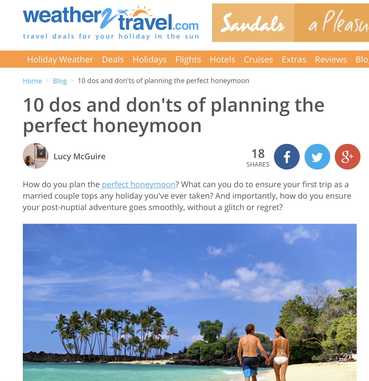 10 honeymoon planning tips