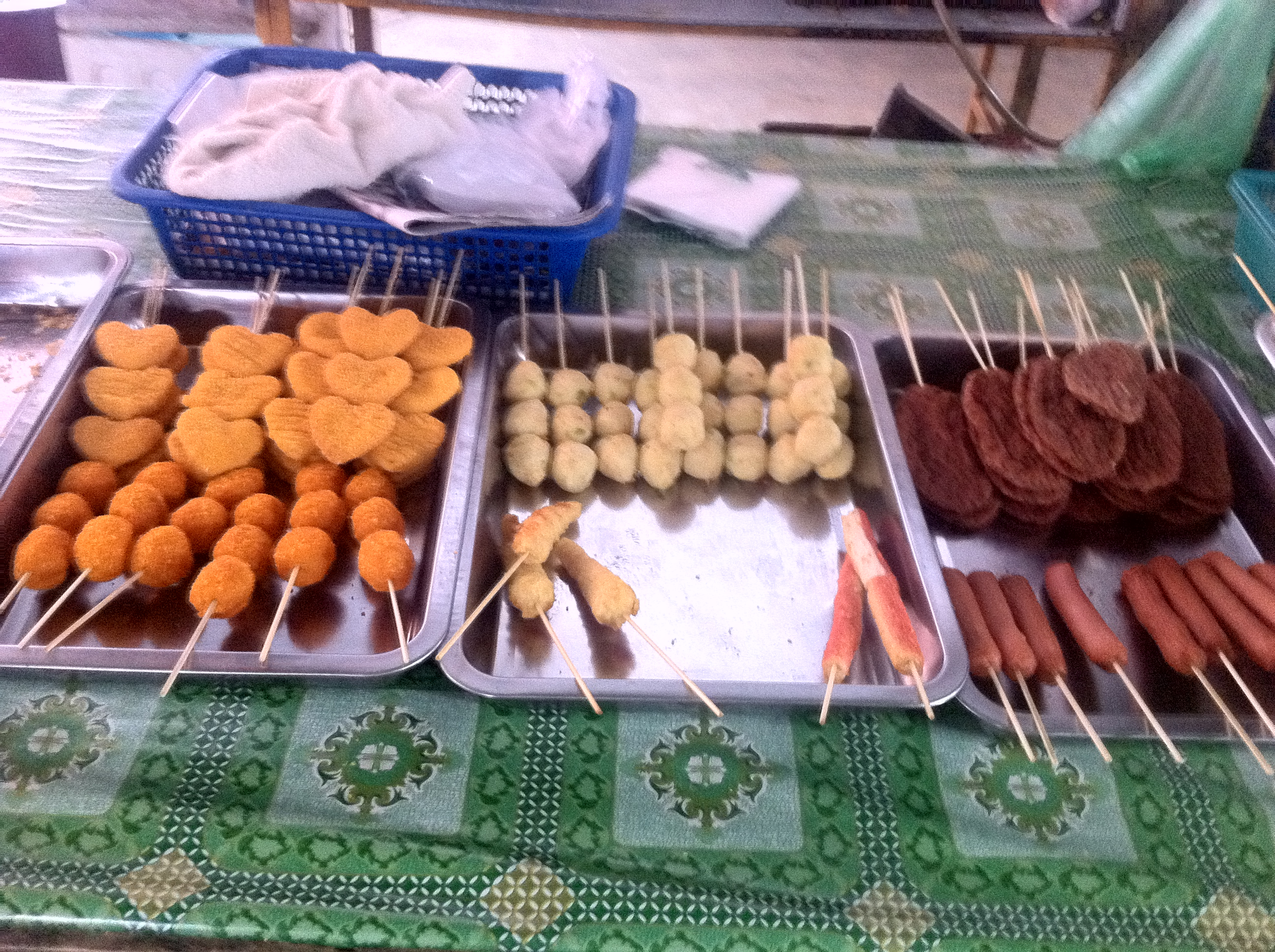 Fried food at Dungun market