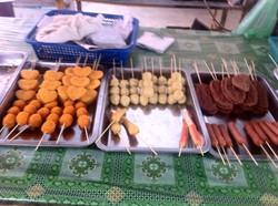 Fried food at Dungun market