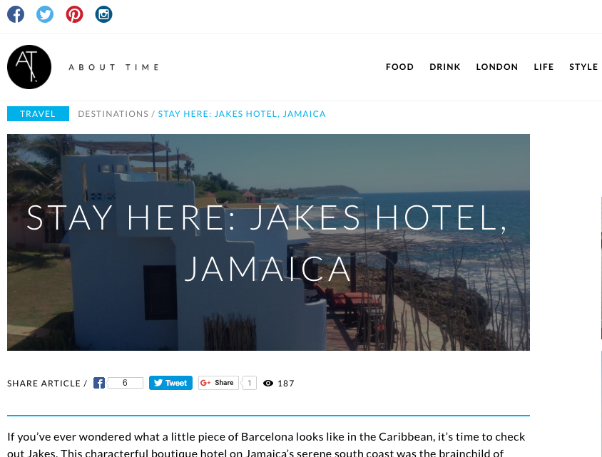 Stay Here: Jakes Hotel, Jamaica
