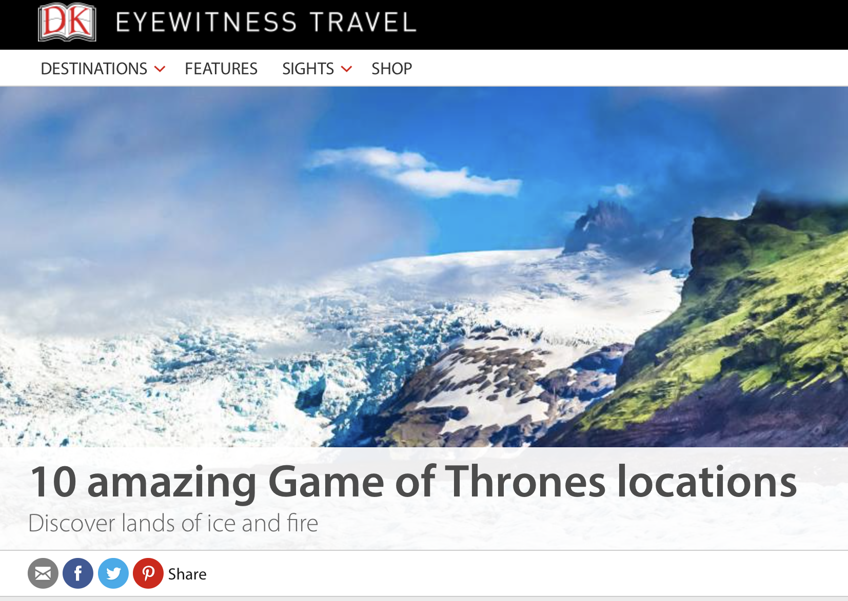 10 Game of Thrones locations