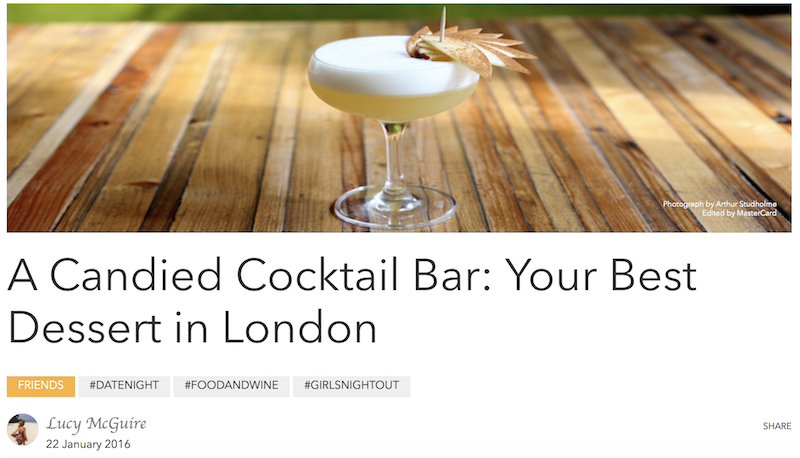 A Candied cocktail bar in London