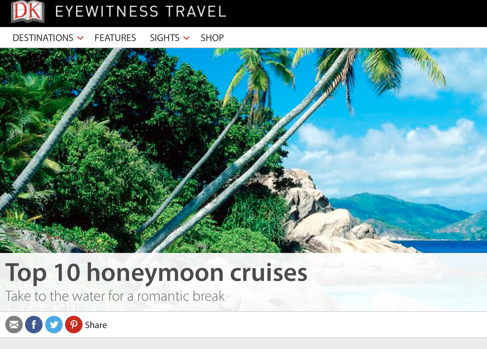 Top 10 Honeymoon Cruises