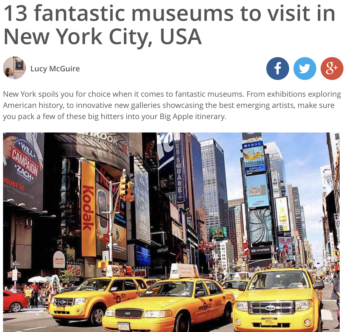 Top NYC Museums