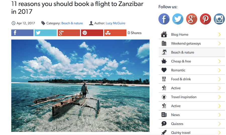 11 reasons to visit Zanzibar