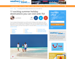 TUI article for Weather2Travel