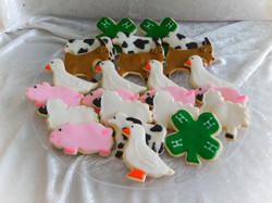 4-H livestock cookies