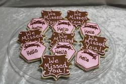 missed you cookies