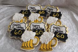 60 birthday cookies