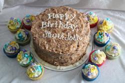 German Chocolate cake and cupcakes