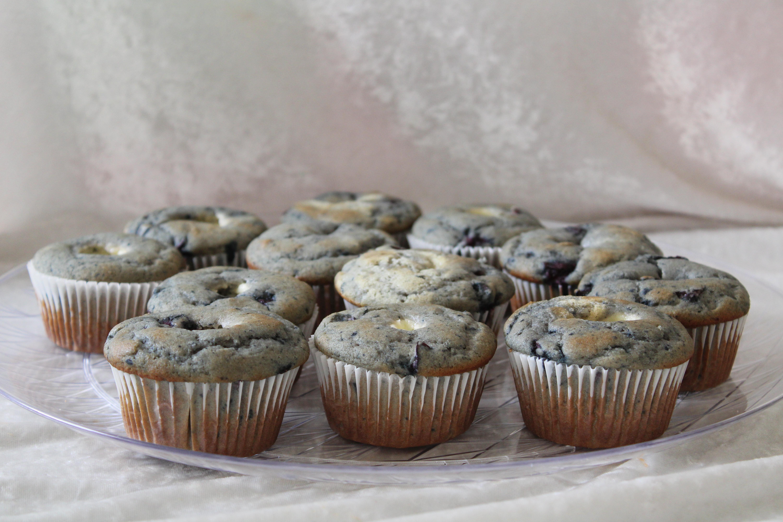 GF cherry cheesecake muffins