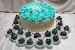 rosette piping cake