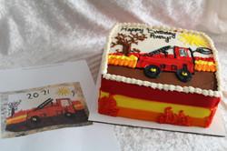 Avery's firetruck cake