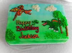dino and dragon cake