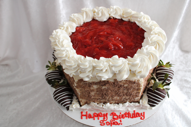 Black forest strawberry cake