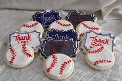 Thank you Baseball cookies