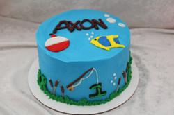 fishing eggless cake